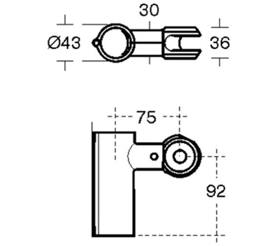 Technical drawing QS-V3512 / S647736