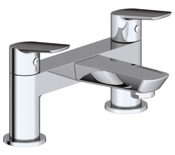 Phoenix Sonia Deck Mounter Bath Filler Tap Chrome