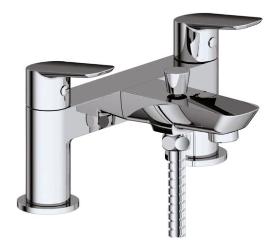Phoenix Sonia Deck Mounted Bath Shower Mixer Tap With Shower Kit