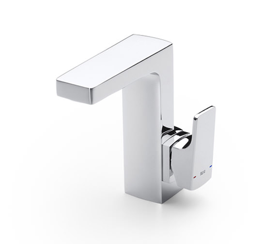 Roca L90 Side Handle Basin Mixer Tap With Pop-Up Waste