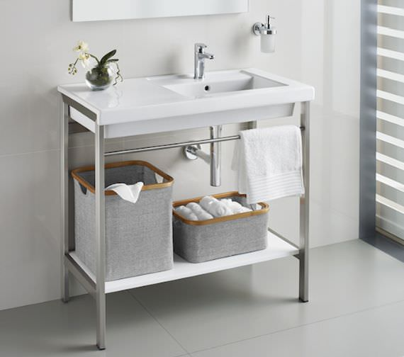 Roca Prisma 900mm Stainless Steel Base Unit With Integrated Towel Rail