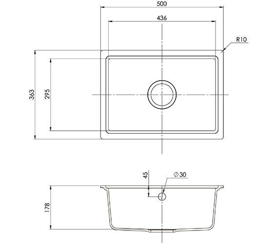 Rok Designer Single Bowl Kitchen Sink Pack Volcano Black