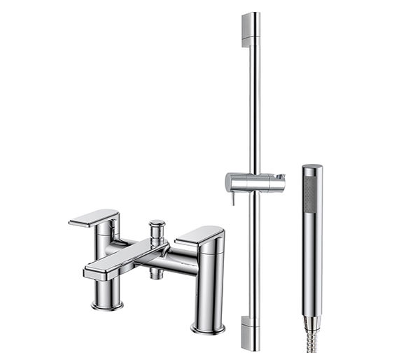 Phoenix Fabia Bath Shower Mixer Tap With Handset And Slide Rail
