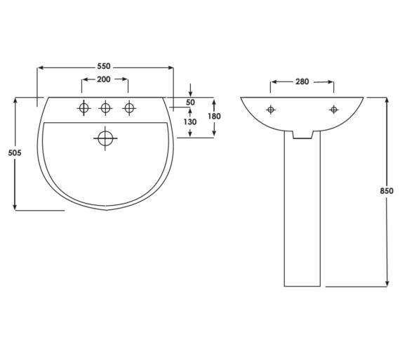 Technical drawing QS-V33050 / AM060