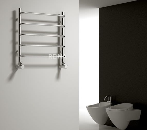 Alternate image of Reina Aliano 500 x 500mm Designer Radiator Chrome - RND-ALN5050