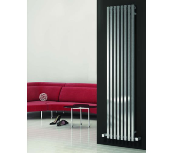Reina Cascia 240 x 1800mm Chrome Steel Designer Radiator - More Width Sizes Available