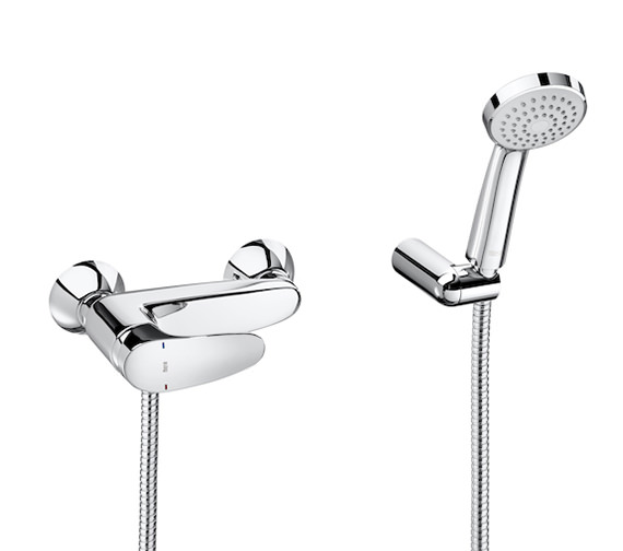 Roca Monodin-N Wall Mounted Shower Mixer With Handset And Bracket