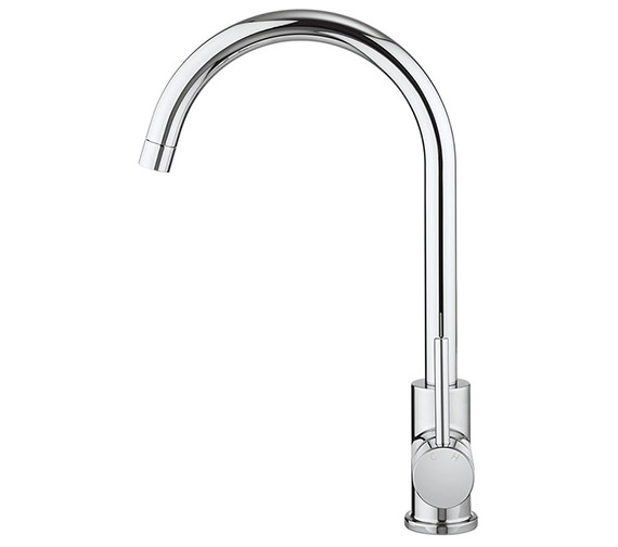 Additional image of Crosswater Cucina Tropic Side Lever Sink Mixer Tap Chrome