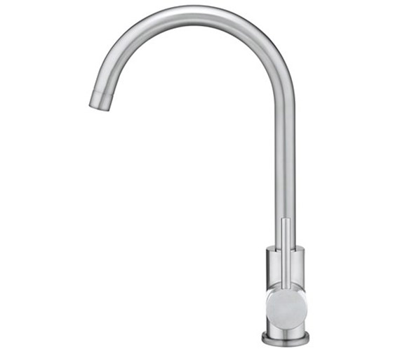 Additional image of Crosswater Cucina Tropic Side Lever Brushed Stainless Steel Sink Mixer Tap
