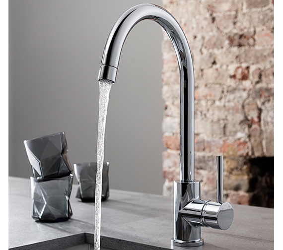 Crosswater Cucina Tropic Side Lever Sink Mixer Tap Chrome