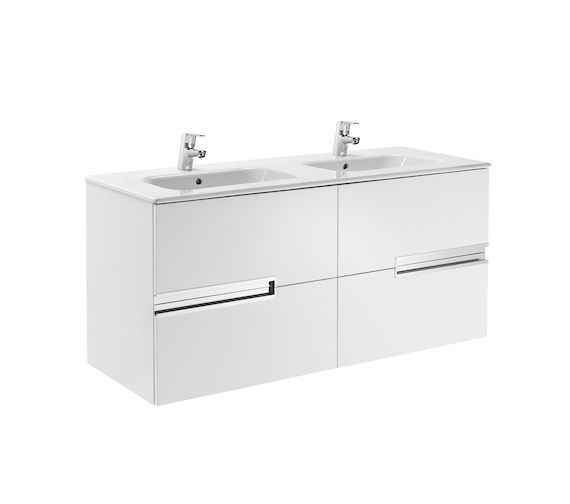 Roca Victoria-N Unik 1200 x 565mm Gloss White Wall Hung Unit With Basin