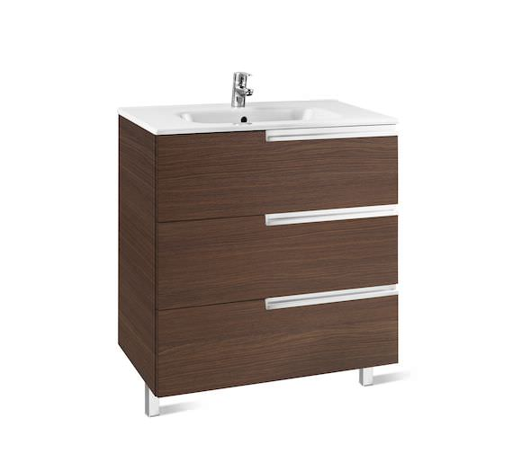 Additional image of Roca Victoria-N Unik Luxurious 3-Drawer Wall Hung Unit 600mm With Basin