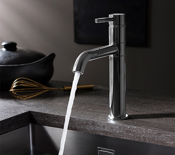 Crosswater Cucina Design Chrome Single Lever Kitchen Sink Mixer Tap