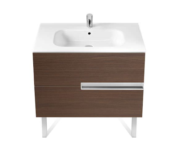 Roca Victoria-N Unik Gloss White Wall Hung Unit With Basin 800 x 565mm