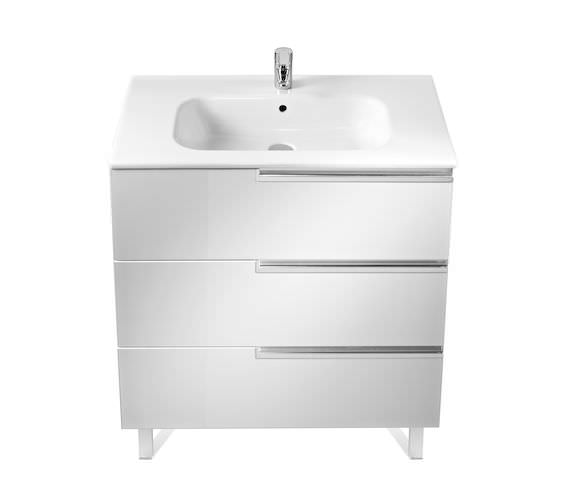 Roca Victoria-N Unik 800 x 740mm Gloss White Wall Hung Unit With Basin