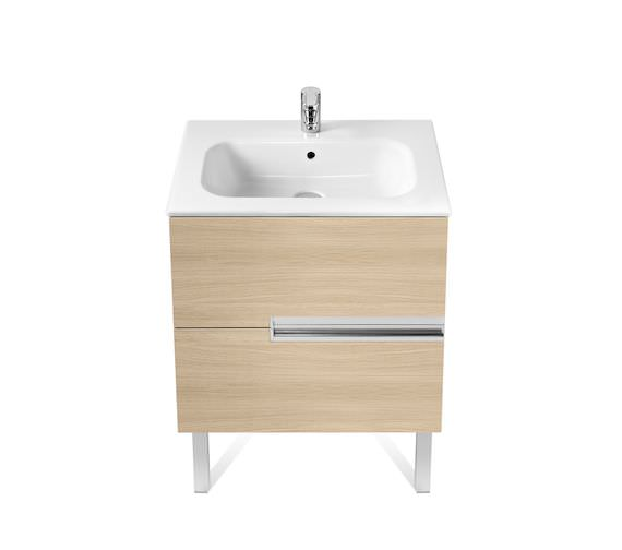 Roca Victoria-N Unik 700 x 565mm Gloss White Wall Hung Unit With Basin
