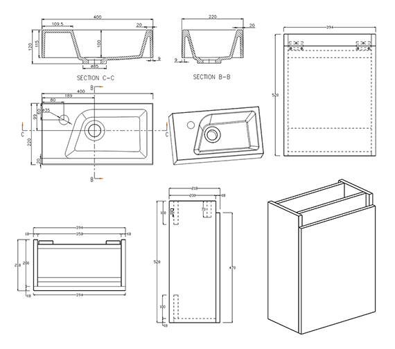 Technical drawing QS-V33051 / FU170