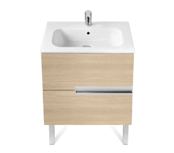 Roca Victoria-N Unik 600 x 565mm Gloss White Wall Hung Unit With Basin