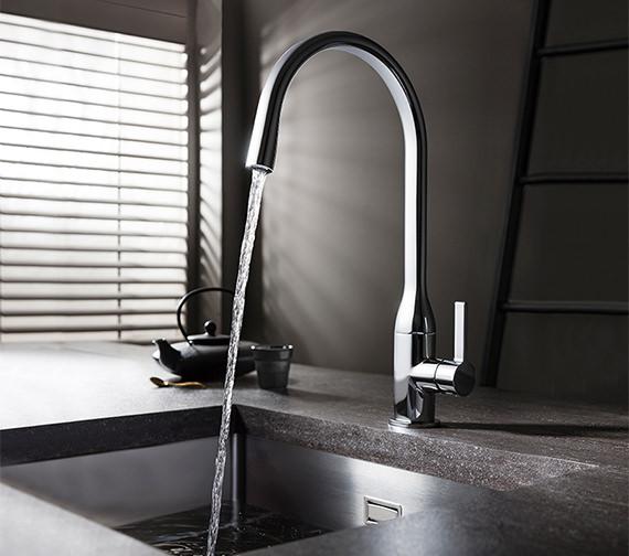 Crosswater Svelte Side Lever Kitchen Sink Mixer Tap
