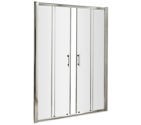 Lauren pacific 1400 x 1850mm double sliding shower door for 1400 shower door