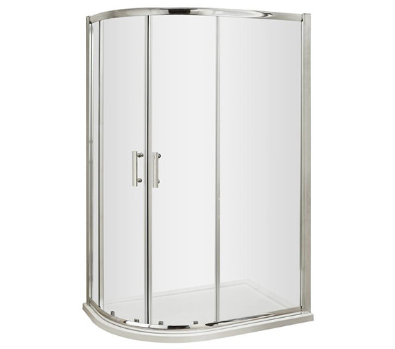 Lauren Pacific 1000 x 800mm Offset Quadrant Shower Enclosure