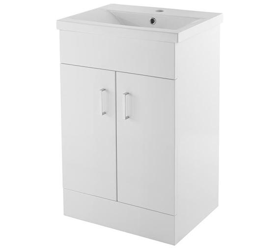 Premier Eden 500mm Floor Standing 2 Door Cabinet With Basin 2