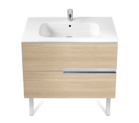 Roca Victoria-N Unik 1000 x 565mm Gloss White Wall Hung Unit With Basin