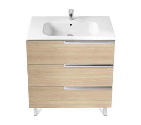 Roca Victoria-N Unik 1000 x 740mm Gloss White Wall Hung Unit With Basin
