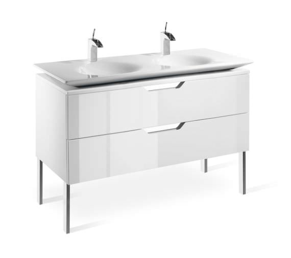 Roca Kalahari-N Wall Hung Unit For 1200mm Basin Gloss White
