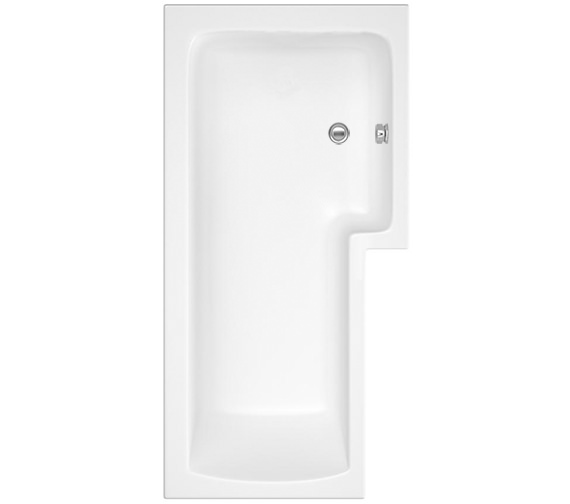 Beo Square Right Hand Shower Bath 1700 x 850mm