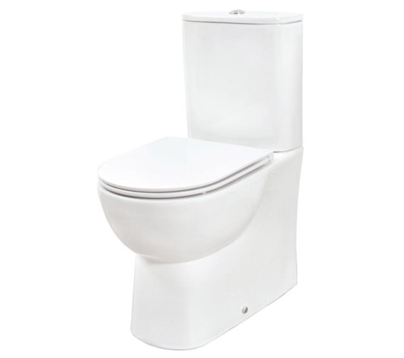 Phoenix Curve Close Coupled Back WC With Soft Close Seat And Cover