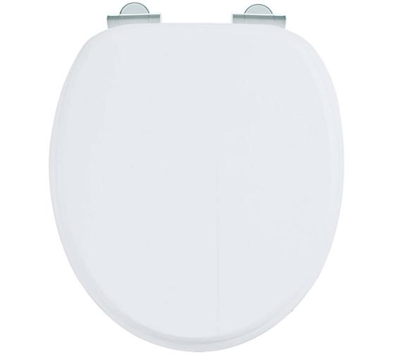 Burlington Soft Close Wooden Toilet Seat Matt White