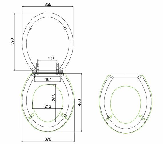 Technical drawing QS-V9167 / S45