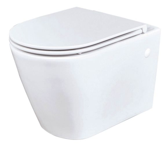 Phoenix Amore 360 x 340mm Wall Hung WC With Soft Close Seat And Cover