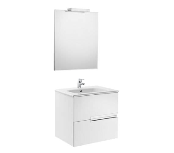 Roca Victoria-N 600 x 565mm Vanity Unit Pack With Mirror And Spotlight
