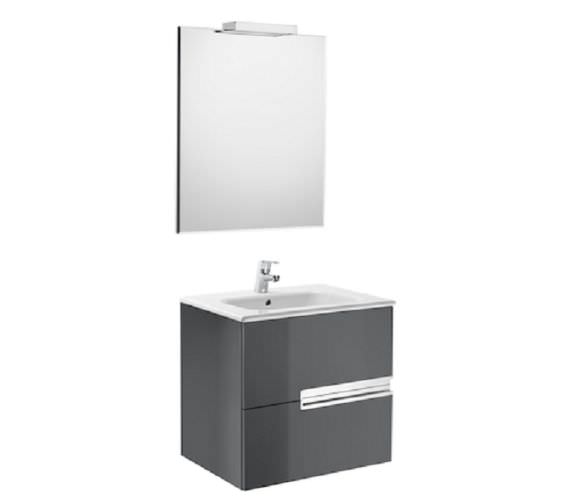 Additional image of Roca Victoria-N Large 600 x 565mm Vanity Unit Pack With Mirror And Spotlight