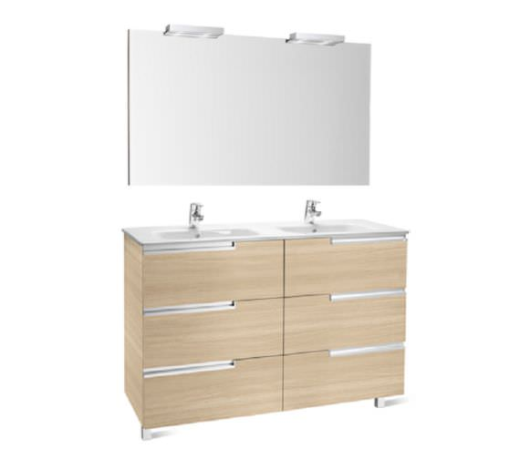 Roca Victoria-N 1200 x 740mm Vanity Unit Pack With Mirror And Spotlights