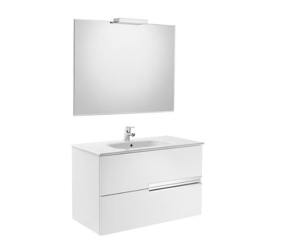 Roca Victoria-N 1000 x 565mm Vanity Unit Pack With Mirror And Spotlight