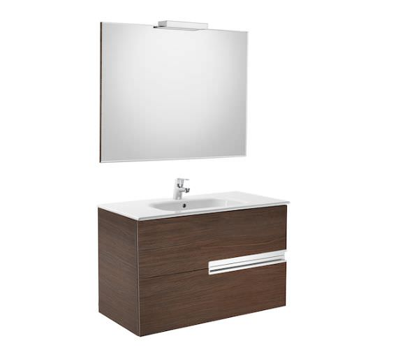 Additional image of Roca Victoria-N 1000 x 565mm Vanity Unit Pack With Mirror And Spotlight