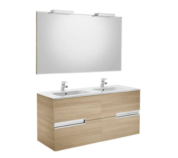 Roca Victoria-N 1200 x 565mm Vanity Unit Pack With Mirror And Spotlight