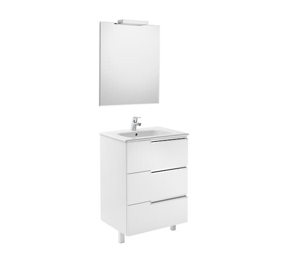 Roca Victoria-N 600 x 740mm Vanity Unit Pack With Mirror And Spotlight