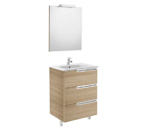 Roca Victoria-N 700 x 740mm Vanity Unit Pack With Mirror And Spotlight