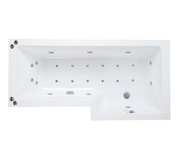 Additional image of Phoenix Qube Left Hand Whirlpool Shower Bath With Panel And Screen