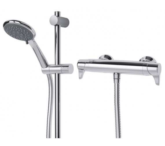 Thermostatic bar mixer in ground light fixtures