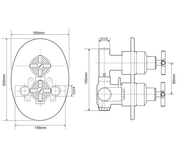 Technical drawing QS-V29229 / UNKETHDCMX