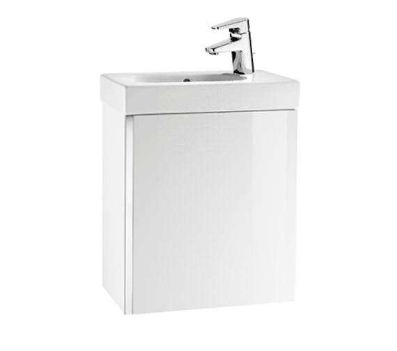 Roca Mini Unik 450mm Gloss White Wall Hung Base Unit And Basin