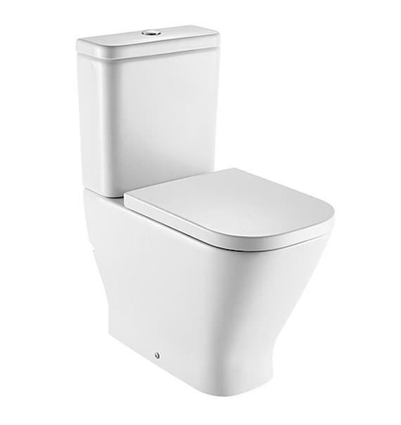 Roca the gap comfort height close coupled wc pan with cistern for Cisterna roca gondola