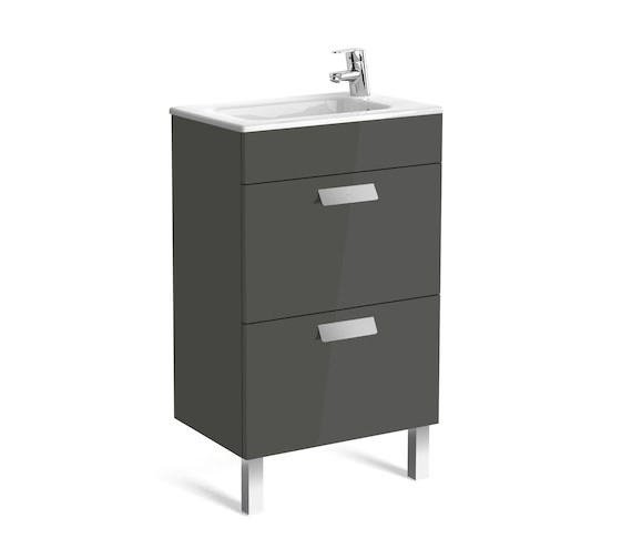 Additional image of Roca Debba Unik Compact 2 Drawer Wall Hung Unit 500mm With Basin