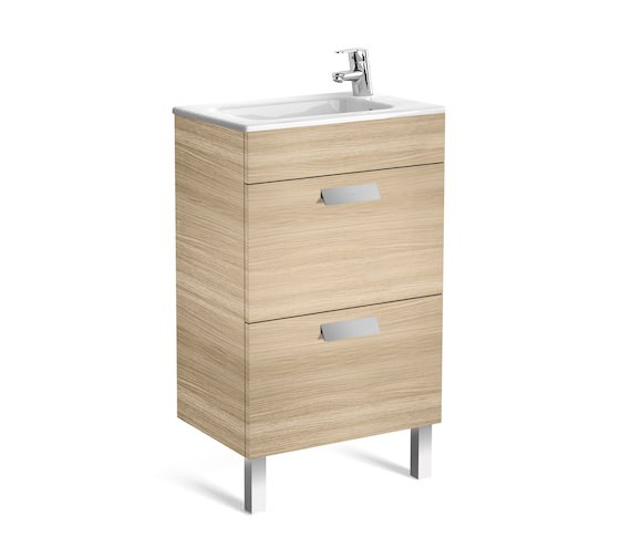 Roca Debba Unik Compact 2 Drawer Wall Hung Unit 500mm With Basin