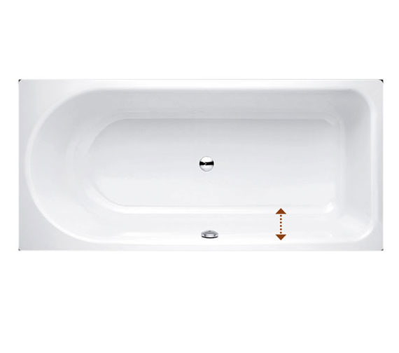 Bette Ocean Low Line 1700 x 800mm Super Steel Bath With Front Overflow